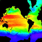 Sea temperature of the Atlantic and Pacific Oceans © www.csm.ornl.gov
