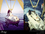 Wall paper thumbnail, the Pisces III submersible preparing for launch © J.B. Wilson, IOC (1973)